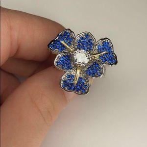 💎S925 Brand New Blue Flower Ring